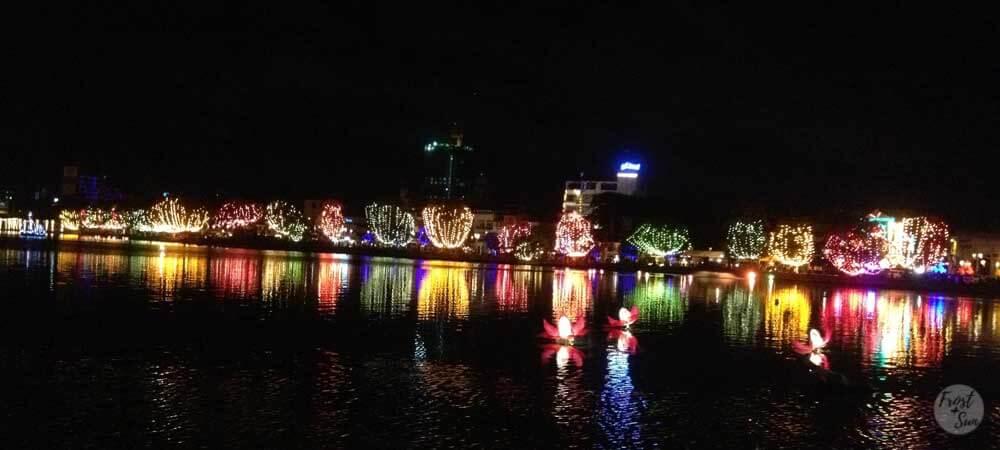 Celebrations in Sri Lanka are very colorful, such as these lights for Vesak Poya in Colombo, Sri Lanka.