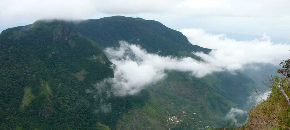 View from World's End in Horton Plains National Park, Sri Lanka