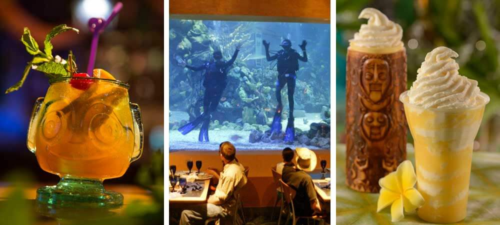 Where to eat + drink on a Moana themed Disney World vacation, from Pineapple Lanai to Trader Sam's + more!
