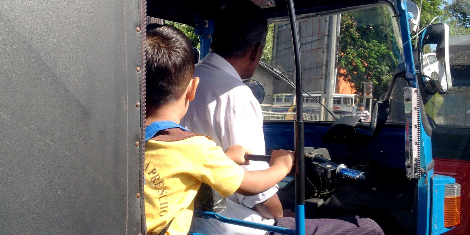 Tuk tuks are my favorite way to get around in Sri Lanka. Even this adorable schoolboy knows it's the best way to get around. It's cheap, you get a nice breeze, and you can get fun photos on your commute. Not for you? Come check out the other options for transportation in Sri Lanka.