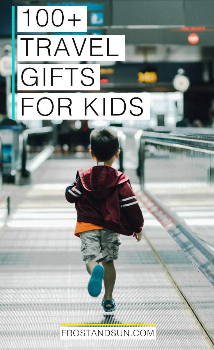 Need a gift idea for Christmas? This super organized guide has over 100 kid-friendly travel gift ideas that you can shop for right from this post. #giftideas #christmas #christmasgifts #giftsforkids