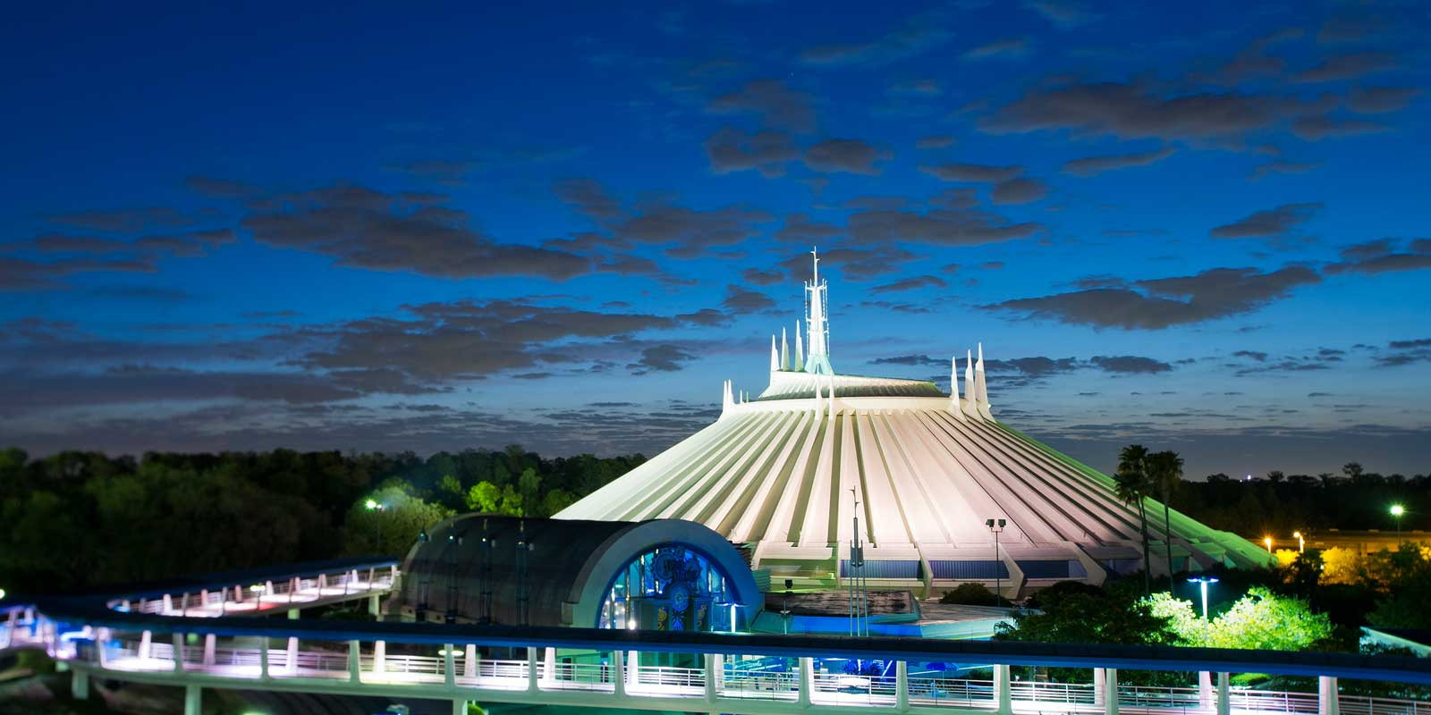 Ride Space Mountain, an epic glow-in-the-dark roller coaster, at Magic Kingdom. Lines can be long, so get a Fastpass. Check out my other Fastpass tips for adults at all of Disney World's parks.