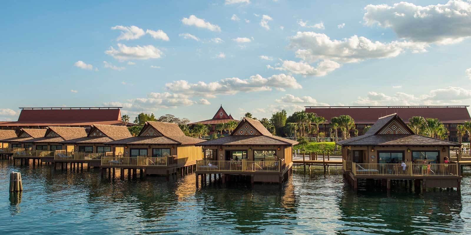 The Polynesian bungalows are one of the most lavish of the Disney Vacation Club Resorts.