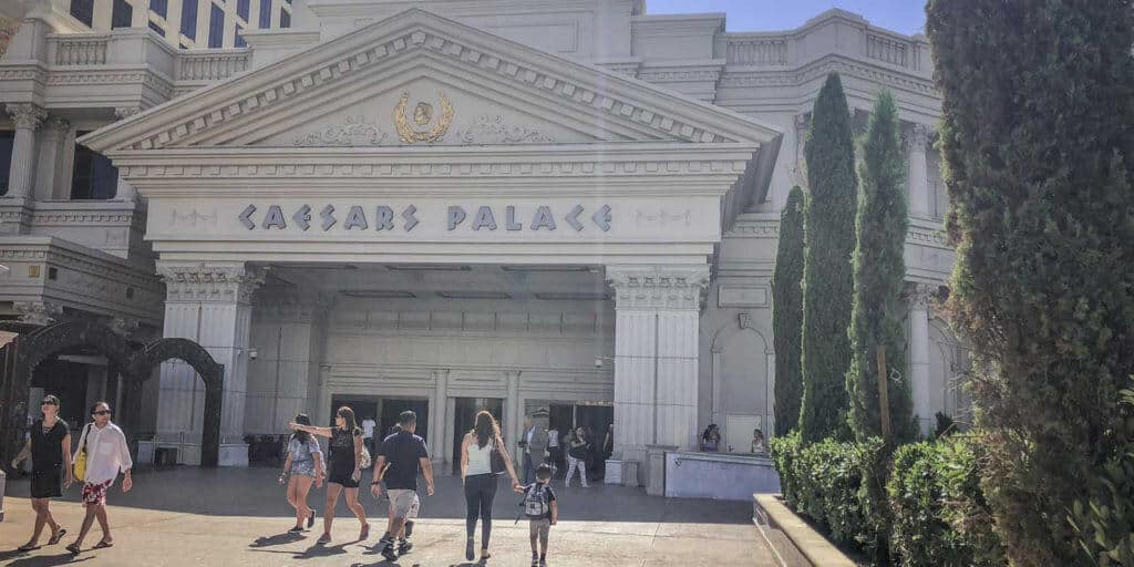 Photo of a side entrance to Caesars Palace in Las Vegas, NV, USA.
