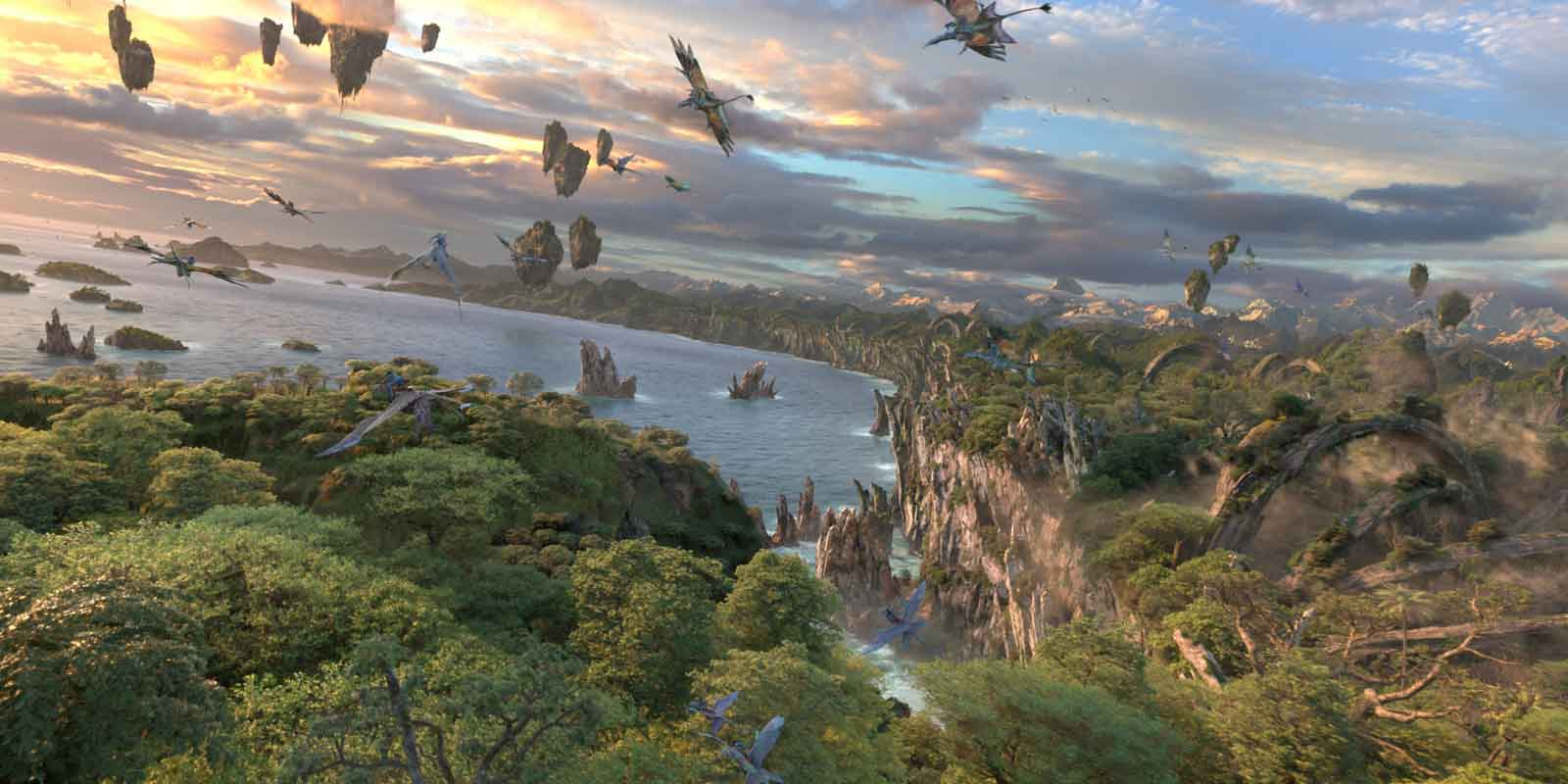 Still from Animal Kingdom's Flight of Passage simulator ride.