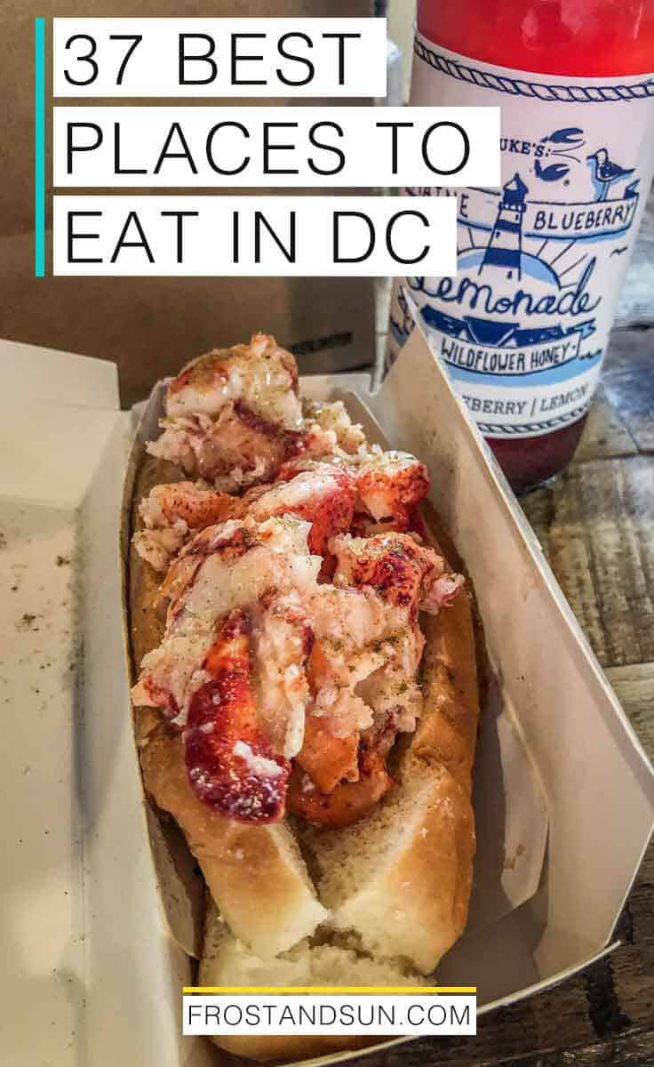 Washington, DC is a foodie paradise. From bottomless brunch spots to sticky sweets, here are the best places to eat in DC. #dc #washingtondc #usa