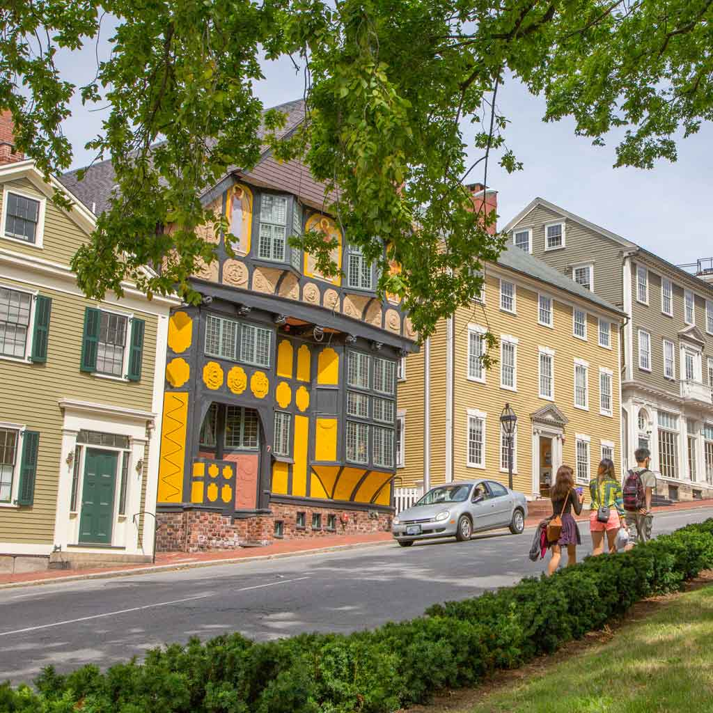 A scene from College Hill in Providence, Rhode Island, just one of many cute spots to see on a day trip from Boston.