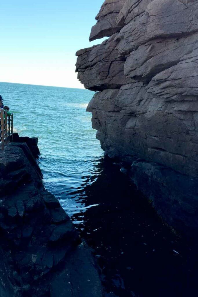 Close up photo of Thunder Hole inlet.