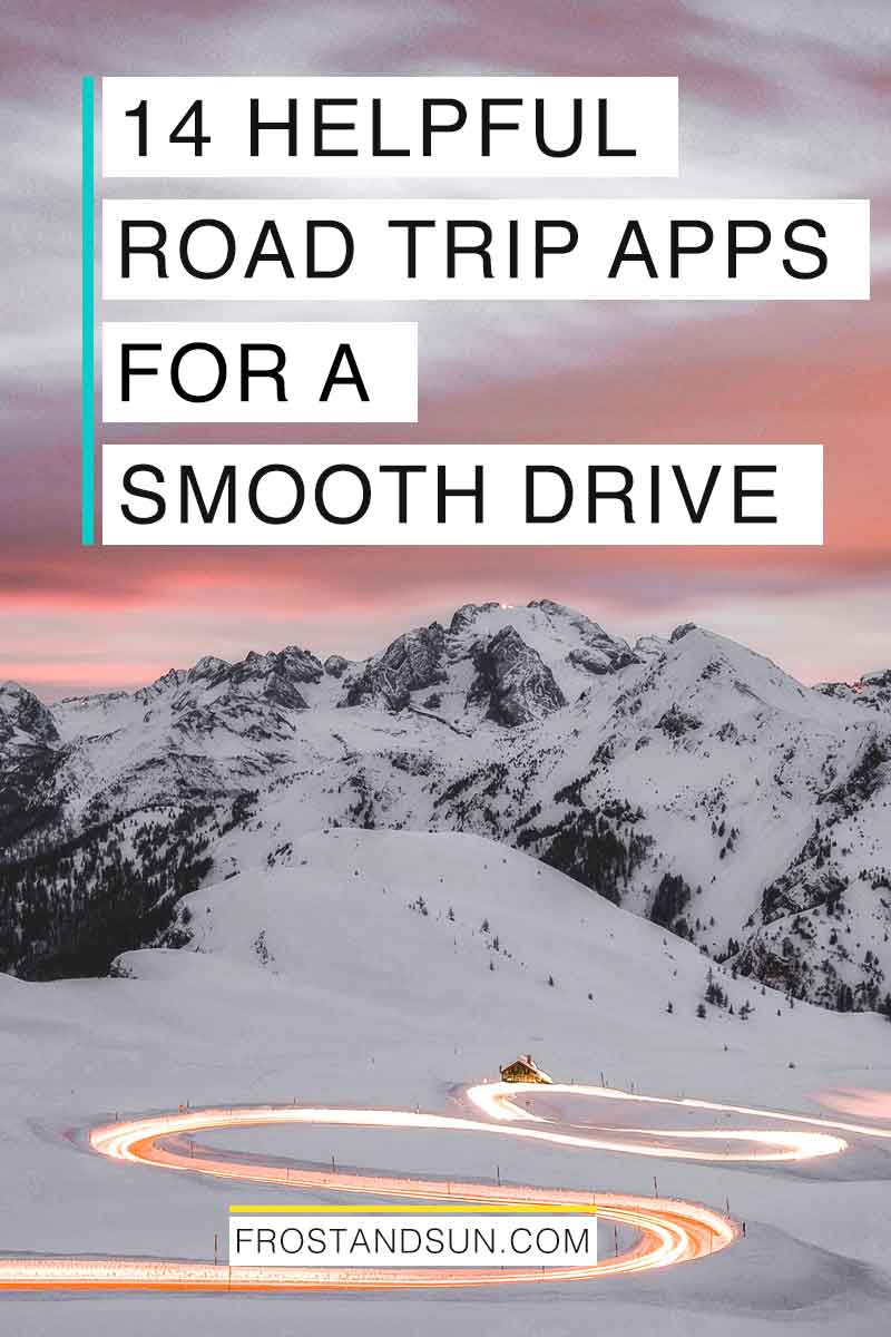 Read this post before you plan another car trip for the 14 best apps for road trips to save money, time and sanity. #roadtrippin #roadtriphacks #roadtripactivities #roadtripessentials #roadtrips #travelapps