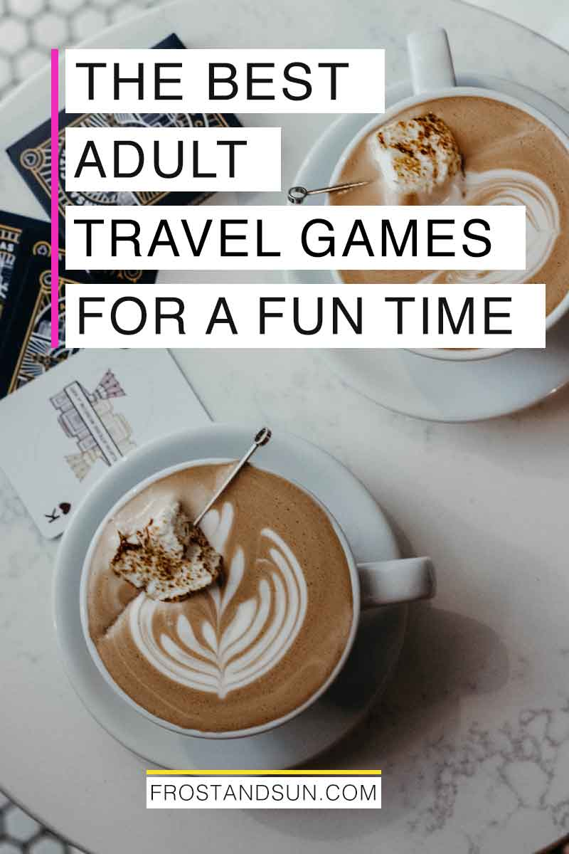 Avoid boredom on your next road trip or long flight with these fun travel games for adults. #traveltips #travelgames #boardgames #cardgames