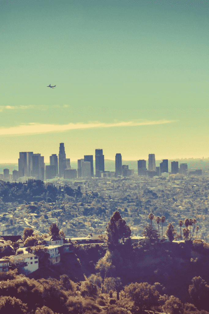 The view from Runyon Canyon in Los Angeles, California.
