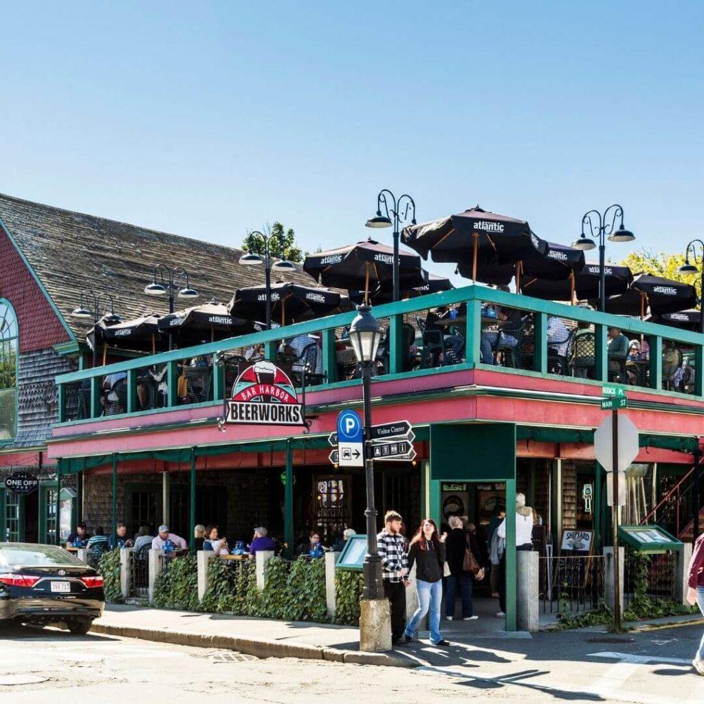 Snapshot of Bar Harbor Beer Works restaurant.