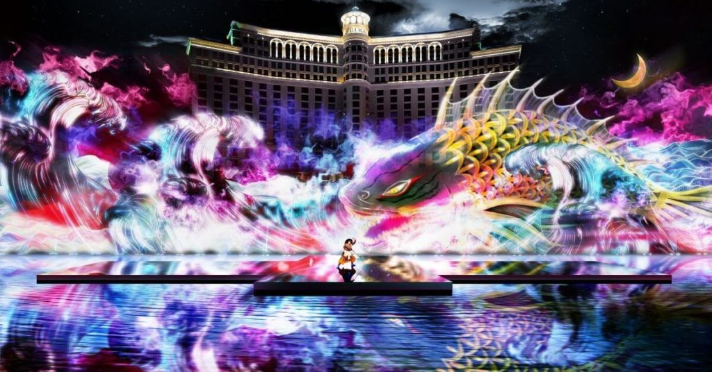 Kabuki Spectacle - Shochiku at the Bellagio Fountain.
