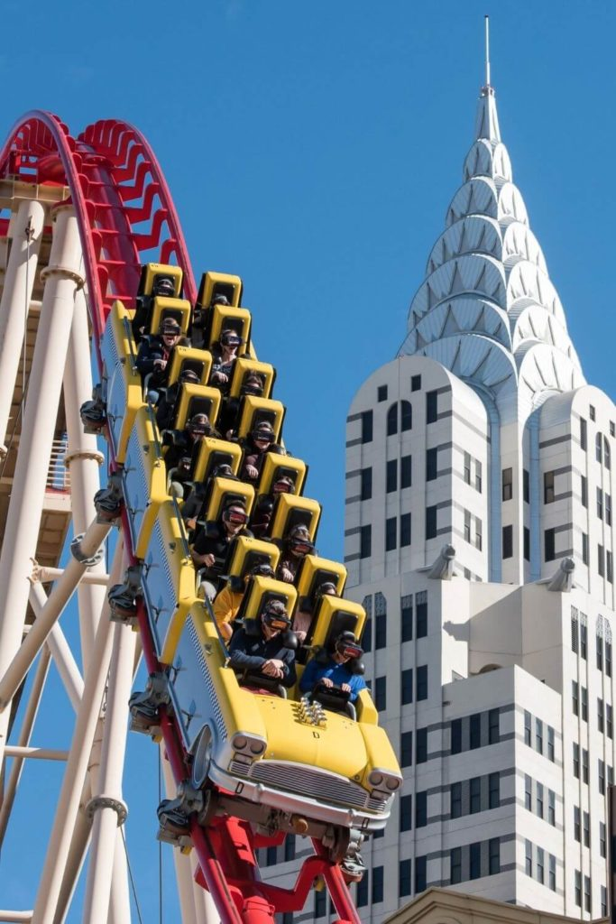 Photo of the roller coaster at the New York New York Hotel and Casino in Vegas.