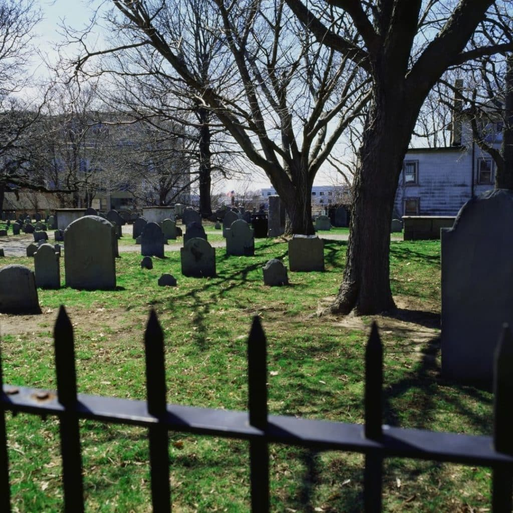 Photo of a cemetery in Salem, MA.