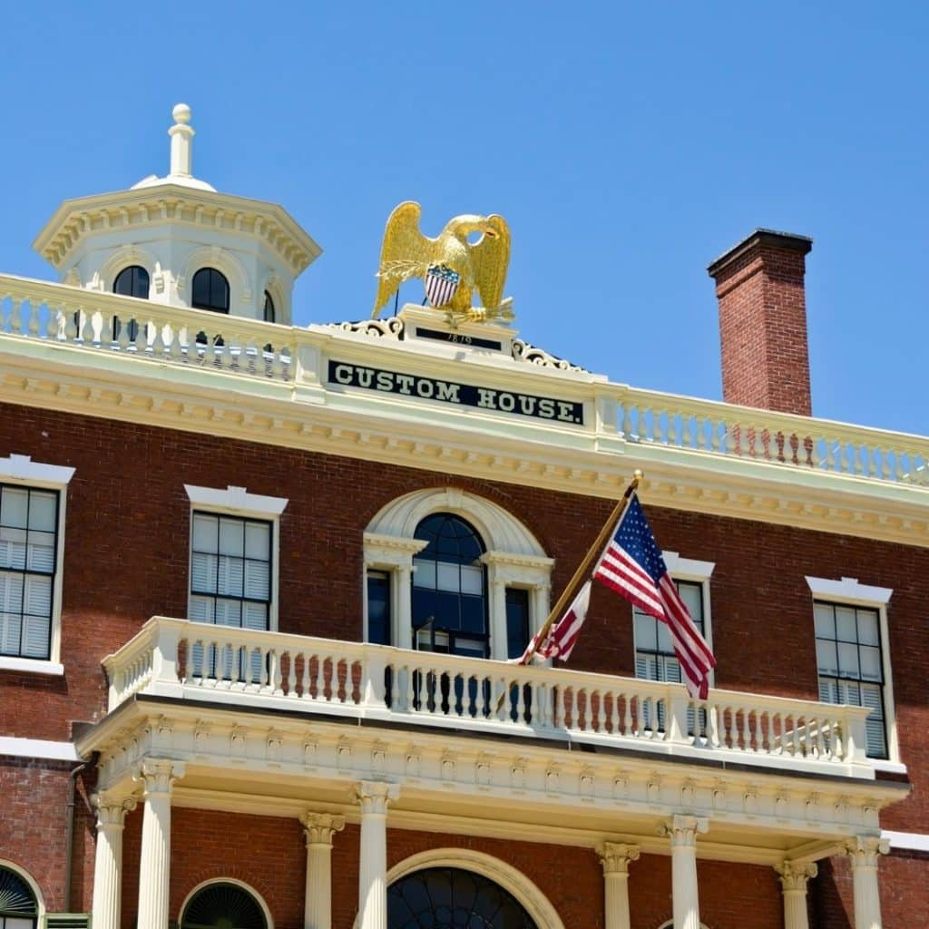 Photo of the Custom House historic building in Salem, MA
