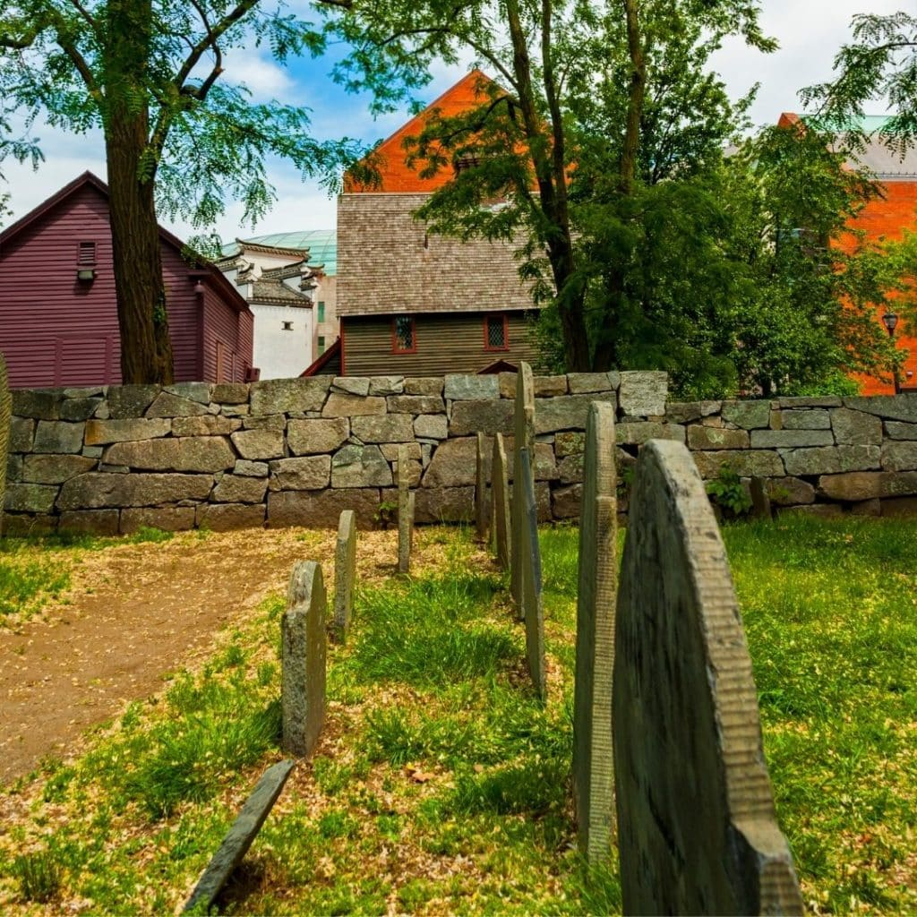 Photo of the Salem Witch Trials Memorial