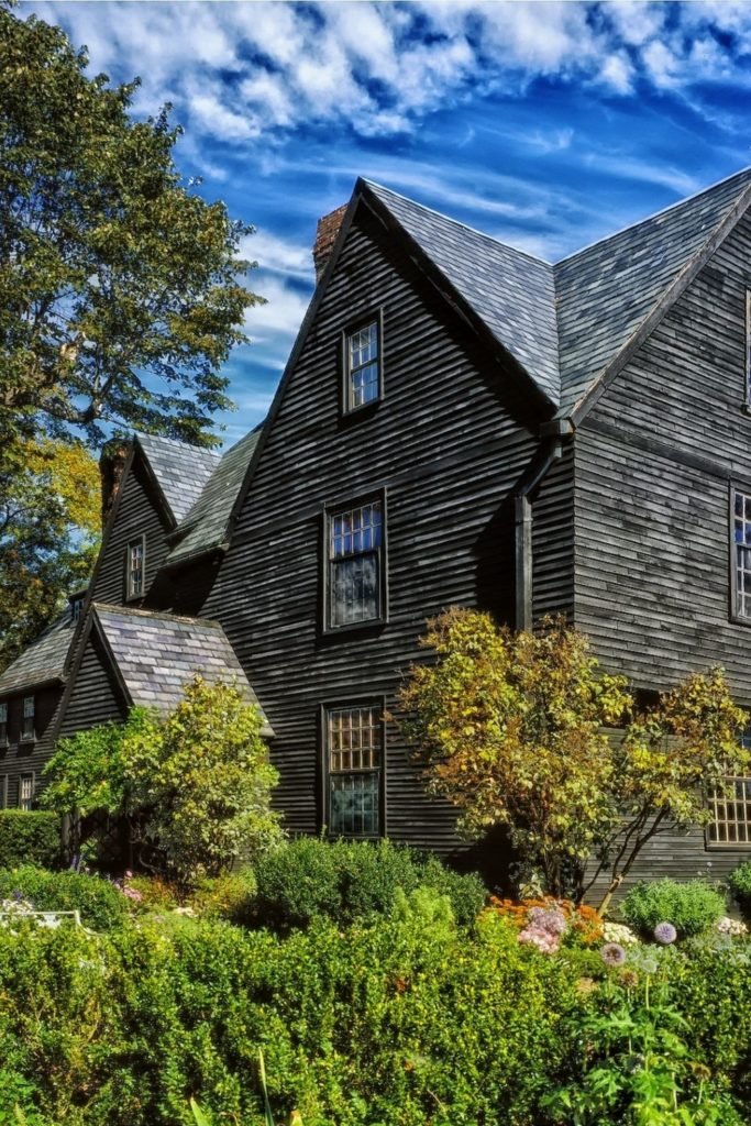 Photo of the House of Seven Gables in Salem, MA.