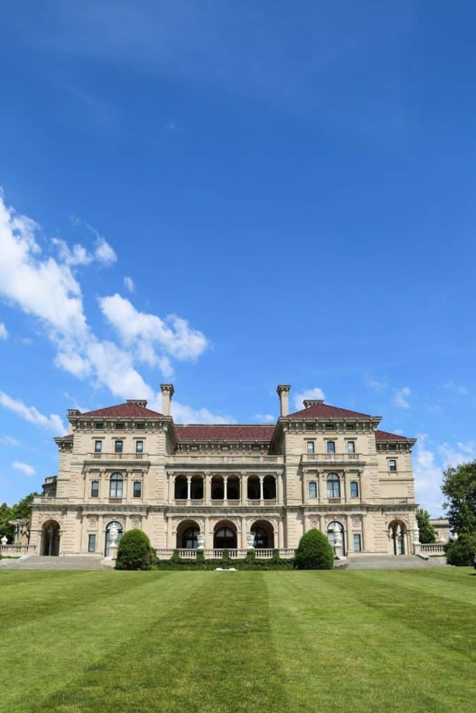 Photo of The Breakers mansion in Newport, Rhode Island.